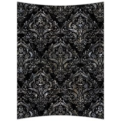 Damask1 Black Marble & Gray Stone Back Support Cushion by trendistuff