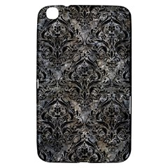 Damask1 Black Marble & Gray Stone (r) Samsung Galaxy Tab 3 (8 ) T3100 Hardshell Case  by trendistuff