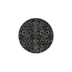 Damask2 Black Marble & Gray Stone Golf Ball Marker (10 Pack)