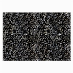Damask2 Black Marble & Gray Stone Large Glasses Cloth (2 Side) by trendistuff