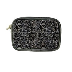 Damask2 Black Marble & Gray Stone Coin Purse by trendistuff