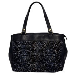 Damask2 Black Marble & Gray Stone Office Handbags by trendistuff