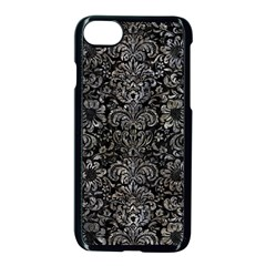 Damask2 Black Marble & Gray Stone Apple Iphone 7 Seamless Case (black) by trendistuff