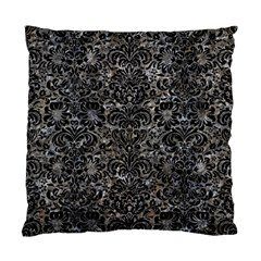 Damask2 Black Marble & Gray Stone (r) Standard Cushion Case (one Side) by trendistuff