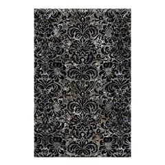 Damask2 Black Marble & Gray Stone (r) Shower Curtain 48  X 72  (small)  by trendistuff