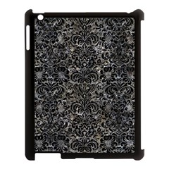 Damask2 Black Marble & Gray Stone (r) Apple Ipad 3/4 Case (black) by trendistuff