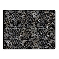 Damask2 Black Marble & Gray Stone (r) Double Sided Fleece Blanket (small)  by trendistuff