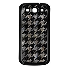 Houndstooth1 Black Marble & Gray Stone Samsung Galaxy S3 Back Case (black) by trendistuff