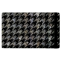 Houndstooth1 Black Marble & Gray Stone Apple Ipad Pro 12 9   Flip Case by trendistuff