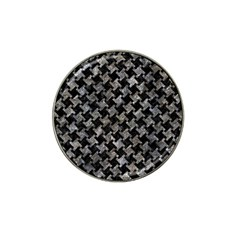 Houndstooth2 Black Marble & Gray Stone Hat Clip Ball Marker (10 Pack) by trendistuff