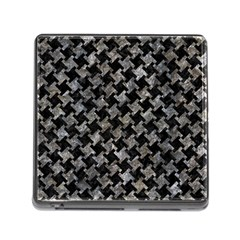 Houndstooth2 Black Marble & Gray Stone Memory Card Reader (square) by trendistuff