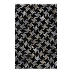 Houndstooth2 Black Marble & Gray Stone Shower Curtain 48  X 72  (small)  by trendistuff