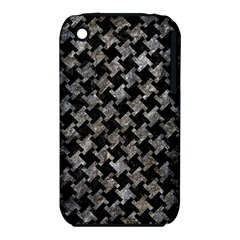 Houndstooth2 Black Marble & Gray Stone Iphone 3s/3gs by trendistuff