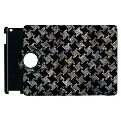 Houndstooth2 Black Marble & Gray Stone Apple Ipad 2 Flip 360 Case by trendistuff