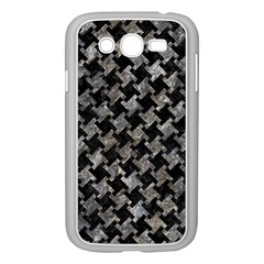 Houndstooth2 Black Marble & Gray Stone Samsung Galaxy Grand Duos I9082 Case (white)