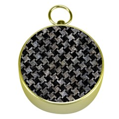 Houndstooth2 Black Marble & Gray Stone Gold Compasses by trendistuff