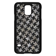Houndstooth2 Black Marble & Gray Stone Samsung Galaxy S5 Case (black) by trendistuff