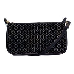 Hexagon1 Black Marble & Gray Stone Shoulder Clutch Bags by trendistuff