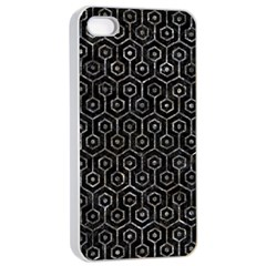 Hexagon1 Black Marble & Gray Stone Apple Iphone 4/4s Seamless Case (white) by trendistuff