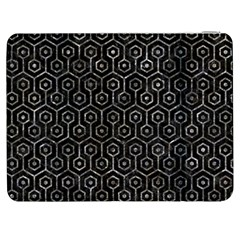 Hexagon1 Black Marble & Gray Stone Samsung Galaxy Tab 7  P1000 Flip Case by trendistuff