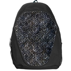 Hexagon1 Black Marble & Gray Stone (r) Backpack Bag by trendistuff