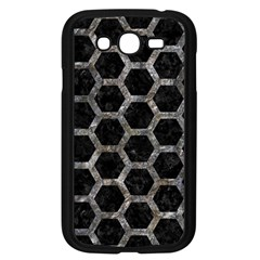 Hexagon2 Black Marble & Gray Stone Samsung Galaxy Grand Duos I9082 Case (black) by trendistuff