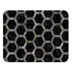 Hexagon2 Black Marble & Gray Stone Double Sided Flano Blanket (large)  by trendistuff