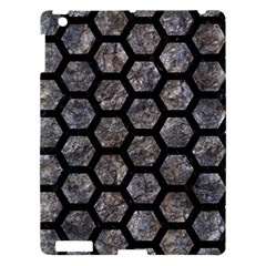 Hexagon2 Black Marble & Gray Stone (r) Apple Ipad 3/4 Hardshell Case by trendistuff