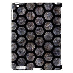 Hexagon2 Black Marble & Gray Stone (r) Apple Ipad 3/4 Hardshell Case (compatible With Smart Cover) by trendistuff