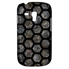 Hexagon2 Black Marble & Gray Stone (r) Galaxy S3 Mini by trendistuff