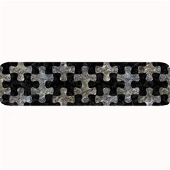 Puzzle1 Black Marble & Gray Stone Large Bar Mats by trendistuff