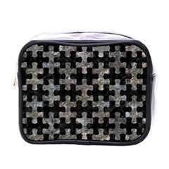 Puzzle1 Black Marble & Gray Stone Mini Toiletries Bags by trendistuff
