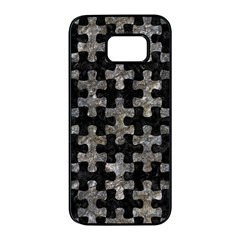 Puzzle1 Black Marble & Gray Stone Samsung Galaxy S7 Edge Black Seamless Case by trendistuff