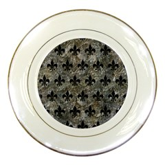 Royal1 Black Marble & Gray Stone Porcelain Plates by trendistuff