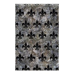Royal1 Black Marble & Gray Stone Shower Curtain 48  X 72  (small)  by trendistuff