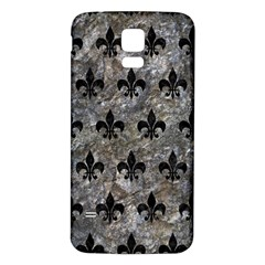 Royal1 Black Marble & Gray Stone Samsung Galaxy S5 Back Case (white) by trendistuff