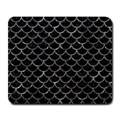 Scales1 Black Marble & Gray Stone Large Mousepads by trendistuff