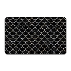 Scales1 Black Marble & Gray Stone Magnet (rectangular) by trendistuff