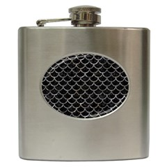 Scales1 Black Marble & Gray Stone Hip Flask (6 Oz) by trendistuff