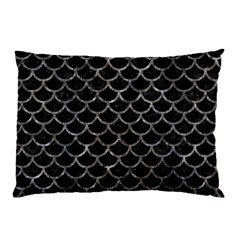 Scales1 Black Marble & Gray Stone Pillow Case