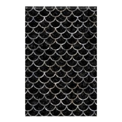 Scales1 Black Marble & Gray Stone Shower Curtain 48  X 72  (small)  by trendistuff