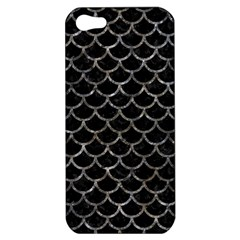 Scales1 Black Marble & Gray Stone Apple Iphone 5 Hardshell Case by trendistuff