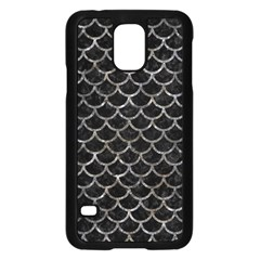 Scales1 Black Marble & Gray Stone Samsung Galaxy S5 Case (black) by trendistuff