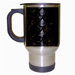 Scales1 Black Marble & Gray Stone (r) Travel Mug (silver Gray) by trendistuff