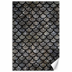 Scales1 Black Marble & Gray Stone (r) Canvas 20  X 30