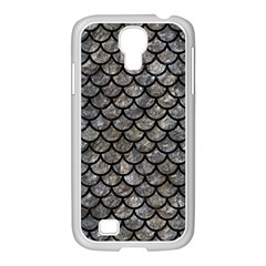 Scales1 Black Marble & Gray Stone (r) Samsung Galaxy S4 I9500/ I9505 Case (white) by trendistuff
