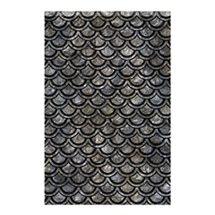 Scales2 Black Marble & Gray Stone (r) Shower Curtain 48  X 72  (small)  by trendistuff