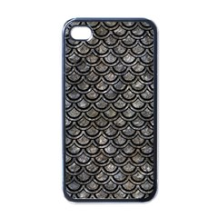 Scales2 Black Marble & Gray Stone (r) Apple Iphone 4 Case (black) by trendistuff