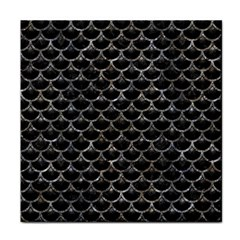 Scales3 Black Marble & Gray Stone Tile Coasters