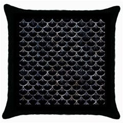 Scales3 Black Marble & Gray Stone Throw Pillow Case (black) by trendistuff